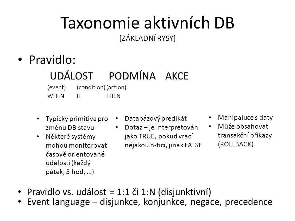 Taxonomie aktivních DB [ZÁKLADNÍ RYSY]